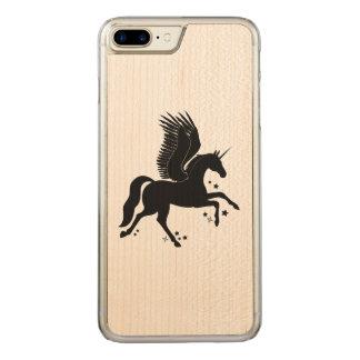 Flying Unicorn, Pegacorn, in Silhouette Carved iPhone 8 Plus/7 Plus Case