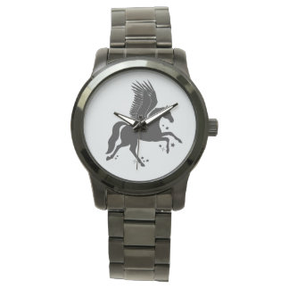 Flying Unicorn, Pegacorn, in Silhouette Watch