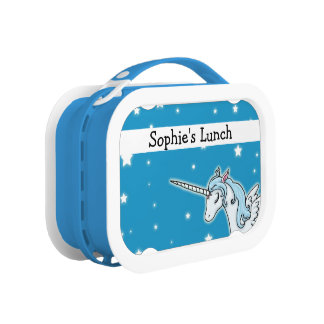 Flying Unicorn personalisable Lunchbox