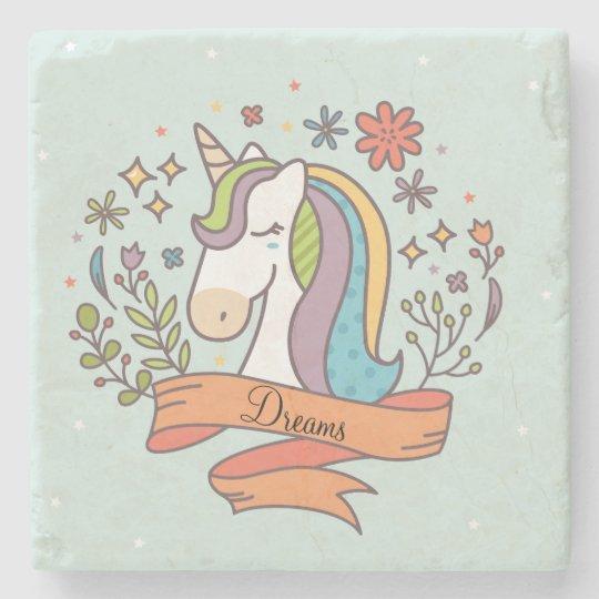 Flying Unicorn Stone Coaster