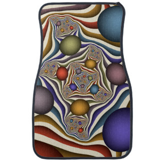 Flying Up, Colorful, Modern, Abstract Fractal Art Car Mat