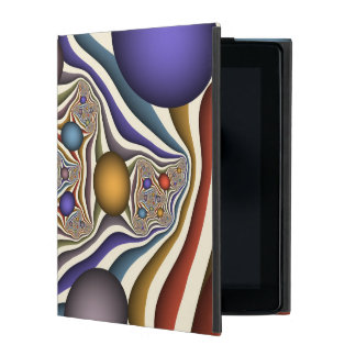 Flying Up, Colorful, Modern, Abstract Fractal Art Cover For iPad