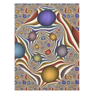 Flying Up, Colorful, Modern, Abstract Fractal Art Tablecloth