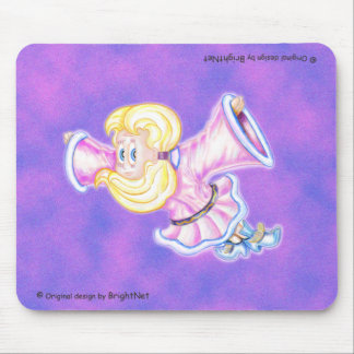 Flying Upside-down pink girl H Mouse Pad