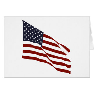 Flying US Flag Greeting Card