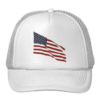 Flying US Flag Mesh Hats