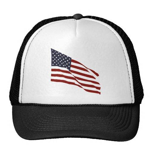 Flying US Flag Mesh Hat