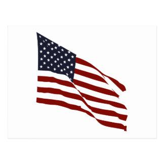 Flying US Flag Postcard