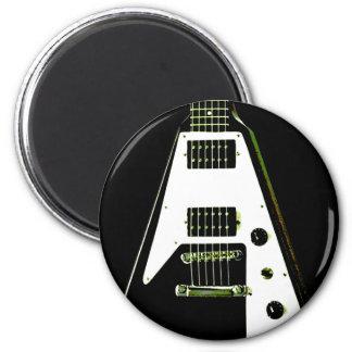 Flying V Electric Guitar 6 Cm Round Magnet