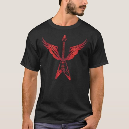 Flying V Guitar (Red) T-Shirt
