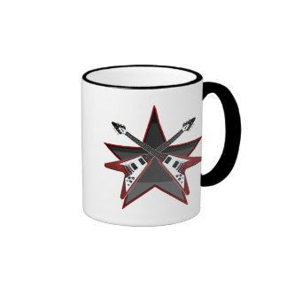 FLYING V GUITAR STAR COFFEE MUG