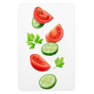Flying vegetables magnet