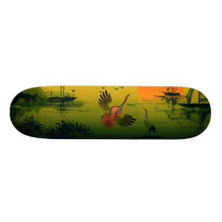 Flying Violin 21.6 Cm Skateboard Deck