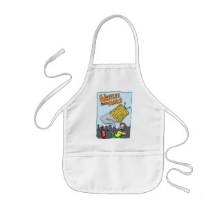 Flying Waffles from Mars! Kids Apron