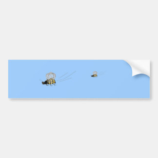 Flying Wasp Bumper Sticker