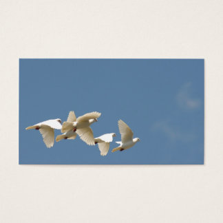 Flying white doves business card