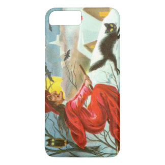 Flying Witch Black Cat Owl Bat Snow iPhone 7 Plus Case