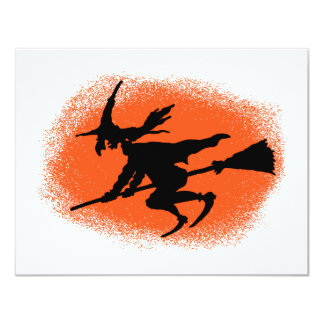 Flying Witch Card 11 Cm X 14 Cm Invitation Card