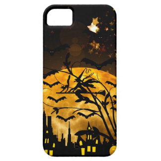 Flying Witch Harvest Moon Bats Halloween Gifts iPhone 5 Cover