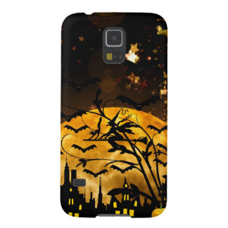 Flying Witch Harvest Moon Bats Halloween Gifts Case For Galaxy S5