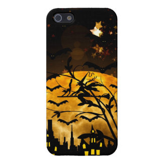 Flying Witch Harvest Moon Bats Halloween Gifts Case For iPhone 5/5S