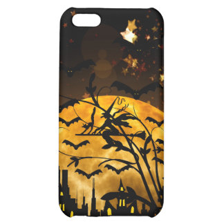 Flying Witch Harvest Moon Bats Halloween Gifts Cover For iPhone 5C