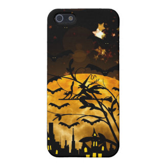 Flying Witch Harvest Moon Bats Halloween Gifts Case For iPhone 5