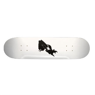 Flying Witch over House Silhouette Skateboard Decks