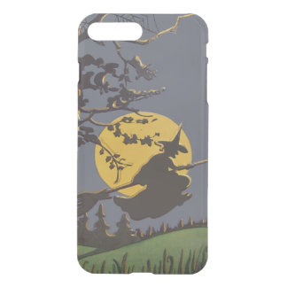 Flying Witch Silhouette Full Moon Spiderweb iPhone 7 Plus Case