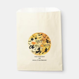 Flying Witches, Bats and Ghosts, HAPPY HALLOWEEN Favour Bags