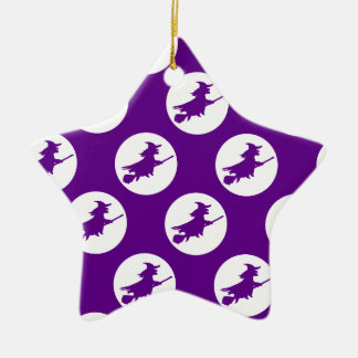 Flying Witches Christmas Ornament
