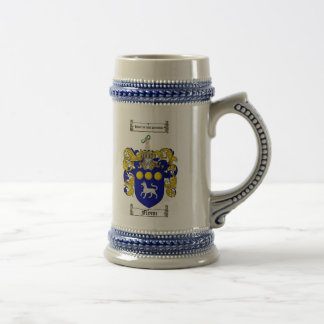 Flynn Coat of Arms Stein / Flynn Family Crest Beer Steins