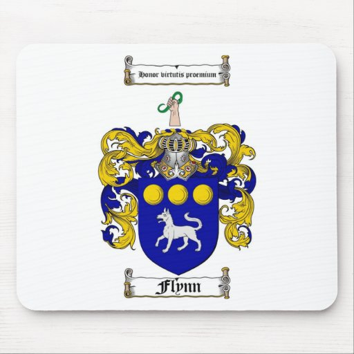FLYNN FAMILY CREST -  FLYNN COAT OF ARMS MOUSE PAD