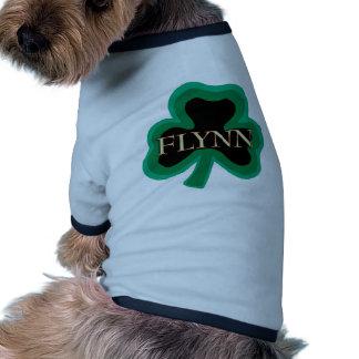 Flynn Family Name Ringer Dog Shirt