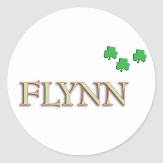Flynn Family Name Round Stickers