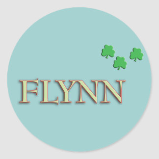 Flynn Family Name Stickers