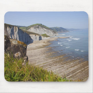 Flysch in the coast of Zumaia, Guipuzcoa, Basque Mouse Pad