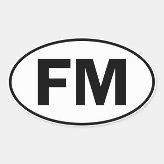 FM Oval Identity Sign Sticker