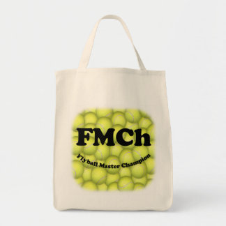 FMCh, Flyball Master Champion Grocery Tote Canvas Bags