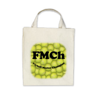 FMCh, Flyball Master Champion Organic Grocery Tote Tote Bags