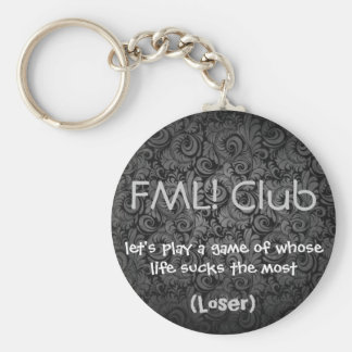 FML Club KC Loser Basic Round Button Key Ring