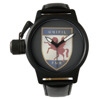 FMR Badge Protector Black Leather Watch