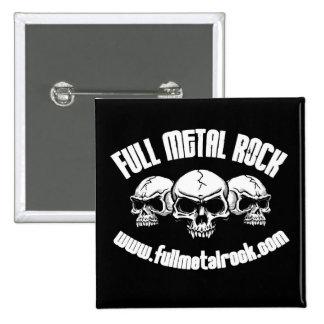 FMR Old Skool Skull Logo Button Square