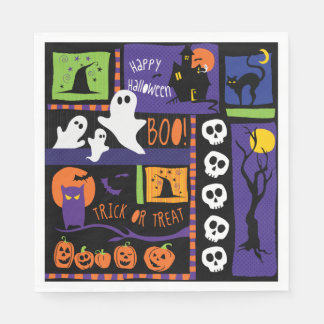 Fn Halloween Party Napkins Disposable Serviettes