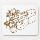 FN P90 SMG MOUSE PAD