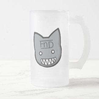 FnD Freaky Kittie Frosted Beer Mug