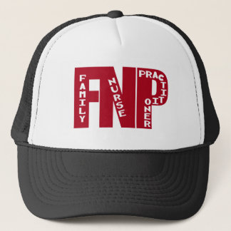 FNP Big Red Family Nurse Practitioner Gifts Trucker Hat