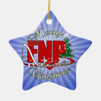 FNP BIGRED MERRY CHRISTMAS FAMILY NURSE PRACTIONER CHRISTMAS ORNAMENT