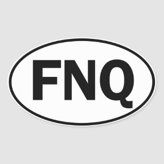 FNQ Oval Identity Sign Oval Sticker