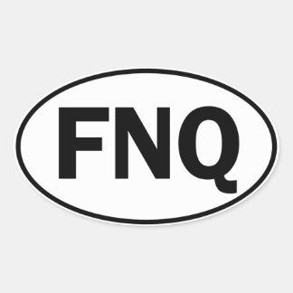 FNQ Oval Identity Sign Sticker